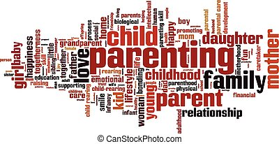 Parenting word cloud concept. Vector illustration