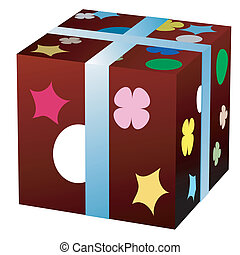 giftbox - 3d  gift box, isolated object on white
