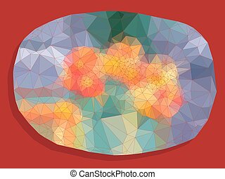 Abstract vivid color polygonal background - Abstract vivid...