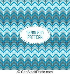 Blue geometric seamless pattern with chevron Paper for...