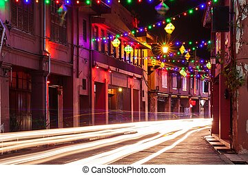 Holiday illumination in Malacca - Holiday illumination on...