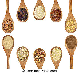 gluten free grains and seeds - a variety of gluten free...