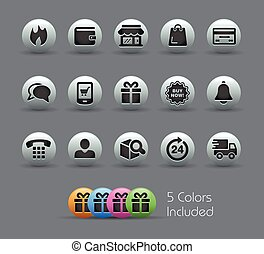 E-Shop Icons -- Pearly Series - The EPS file includes 5...