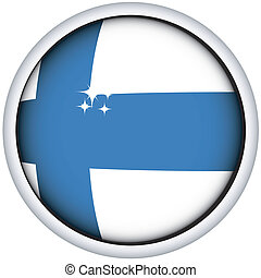 Finnish flag button - Finnish sphere flag button, isolated...
