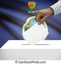 Ballot box with US state flag on background series - Kansas...