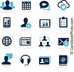 Business Technology Icons -- Azure