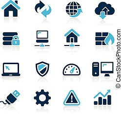 Web Developer Icons -- Azure Series - Vector icons for your...
