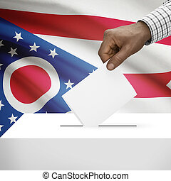 Ballot box with US state flag on background series - Ohio -...
