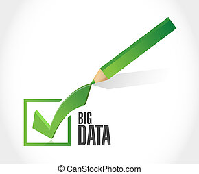 Big data check mark sign concept illustration design over...