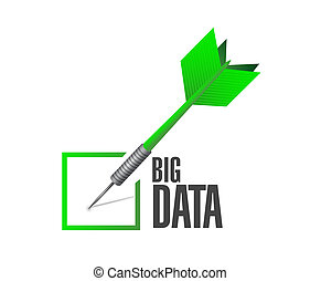 Big data check dart sign concept illustration design over...