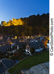 Monschau At Night, Germany