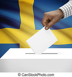 Ballot box with national flag on background series - Kingdom...