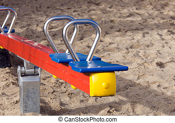 Seesaw for children on a playground