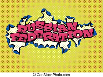 Vector Illustration Of Russian Federation Map Color Russia Map - Russian federation map