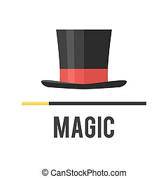 Top hat magician with a cane.