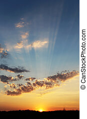 Photo sunset sky - beautiful landscape with a sunset sky...