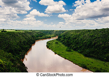 Tropical river Chavon in Dominican Republic Casa de Campo,...