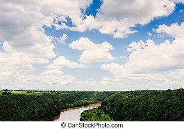 Tropical river Chavon in Dominican Republic. Casa de Campo,...