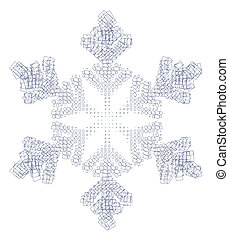 Snow flake and squares - A snow flake build up of squares