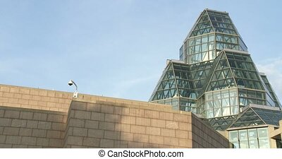 National Gallery of Canada - Rear view of the glass and...