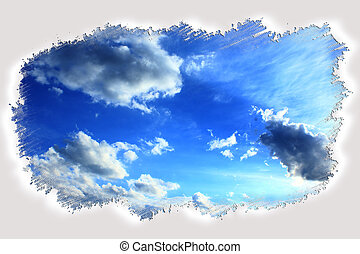 bright clouds in the frame