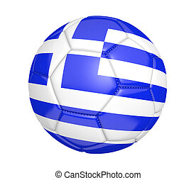 Soccer ball with flag of Greece