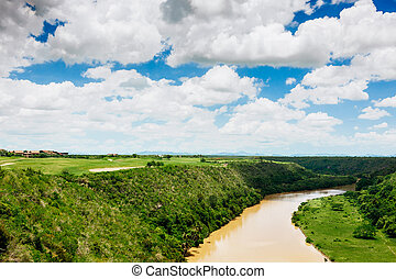 Tropical river Chavon in Dominican Republic Vocation and...