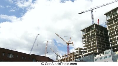 Cranes on construction site