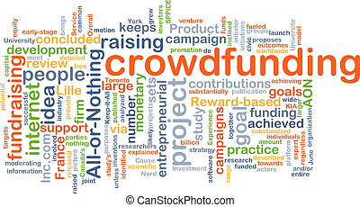 Crowd funding background concept - Background concept...