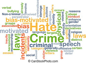 Hate crime background concept - Background concept wordcloud...