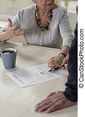 Discussion about divorce - Elderly marriage having...