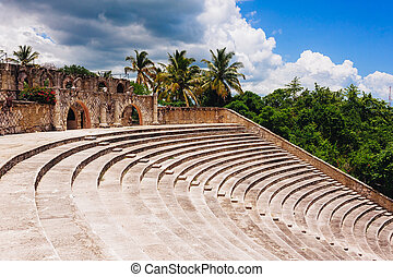 Amphitheater in ancient village Altos de Chavon - Colonial...