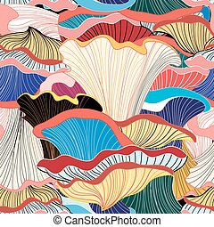 Padrão, abstratos, diferente, fungos