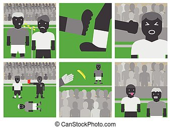Soccer unsportsmanlike conduct - Vector soccer...