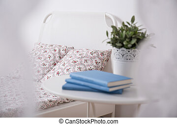Cozy bedroom for teenage girl - Close-up of cozy bedroom for...