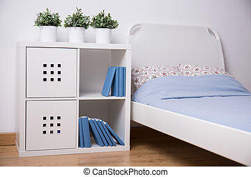 White furniture in teen bedroom