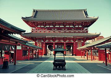 Tokyo temple - Sensoji Temple in Tokyo Japan