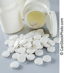 Medicine and drug  - Spilling of paracetamol from container