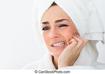 Woman Suffering With Toothache