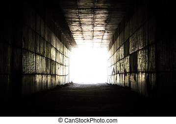 light at the end of the tunnel - concept - light at the end...