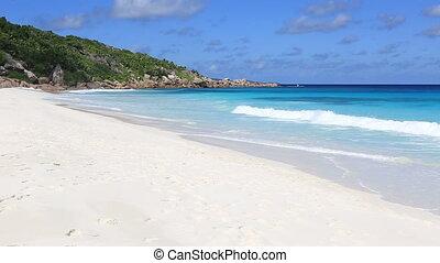 Beautiful beach Anse Petit. Island of La Digue in...