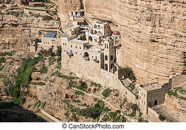 st george monastery, west bank, isr - the hanging monastery...
