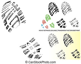 Mountain BootPrint - Highly detailed vector of a bootprin