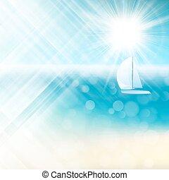 Summer sun light burst. EPS 10 vector file included
