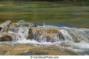 great image of water on rocks in the stream or river