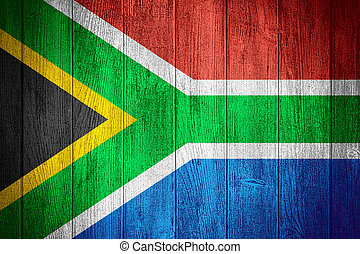 Republic of South Africa flag or South African banner on...