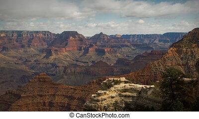 (1135) Grand Canyon Arizona Landscape Rain Storm Clouds...