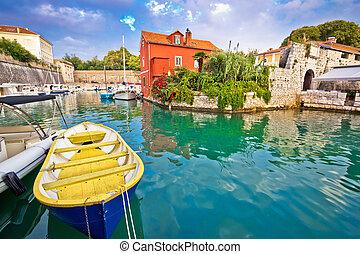 Historic Fosa bay in Zadar