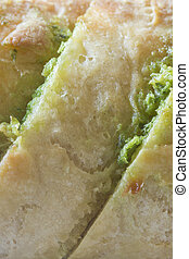 Garlic bread - garlic bread closeup studio shot background...