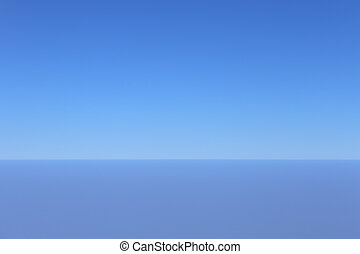 clear blue sky taken from an airplane